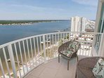 Furnished balcony overlooking Little Lagoon