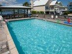 Community pool overlooking lagoon