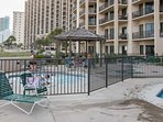 Kids pool with grill and picnic area