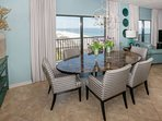 Dining table for 6 overlooking Gulf