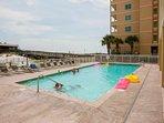 Community pool at Boardwalk Condominiums