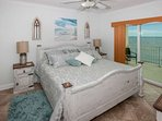 Master bedroom with king bed and private access to Gulf-front balcony