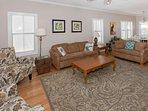 First floor living room with sleep sofa