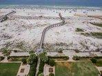 Grounds, boardwalk, beach, Gulf of Mexico