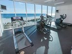 Cardio machines in the fitness center