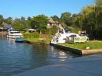 Take a trip on the Broads at Wroxham.