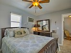 Both of the bedrooms are the epitome of comfortable.