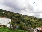 Vistas a la Fuente de la Loma, desde el dormitorio de Casa Martijín.