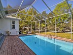 The home offers a pool and is just steps from the Homosassa River!