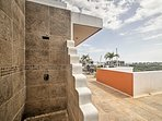 Enjoy the soothing outdoor shower when you need to cool off.
