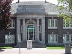 Our beautiful historic library, just a couple steps down the street.