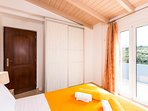 The fourth bedroom is sun and airy!