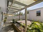 Garden and sunny patio