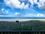 Rainbow over the Gulf of Mexico.