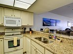 Open kitchen with Gulf of Mexico view.