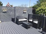 private sunny decking area