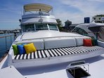 Sleep Aboard Adeline's Sea Moose: 68 ft Private Yacht Rentals Chicago Downtown