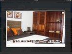 Bedroom 2 with mahogany wood closet