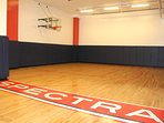 Free access to the basketball court inside the building