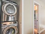 In-unit laundry machines are ready to keep your clothes clean.