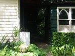 Back entrance of cottage - key lockbox at back door - self checkin 24 hours