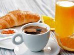 Complimentary continental breakfast served at your front door every morning (Gluten free available)