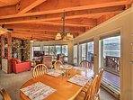 Look out to views of Pend Oreille Lake from almost every room!