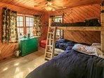 The kids will have fun in this great lower level bunk room.