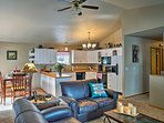 Unwind in the 2,500-square-foot interior with 2 separate living areas.