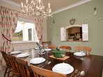 Dining room with hatch through to the kitchen