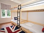 Bunk bedroom with two sets of bunk beds
