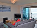 Lounge area with stunning sea views