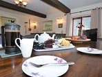 Enjoy tea and cake after a long,busy day exploring