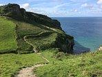 Short stroll to the beautiful coastal path