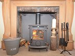 Cosy woodburner logs included