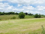 Panoramic views over unspoilt Devon farmland.
