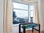 Dining room with table football