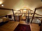 Mezzanine floor with twin beds