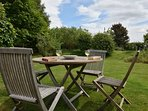 Enjoy a drink and the views from the garden