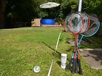 Enjoy a game of badminton on the lawn