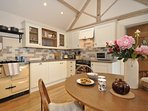 A farmhouse style kitchen/diner
