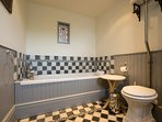 Bathroom with traditional features