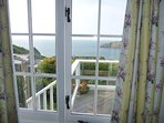 Gorgeous sea views from the double bedroom