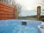 Hot tub with far reaching country views