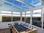 Conservatory complete with table football