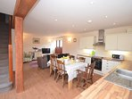 Great open-plan lounge/kitchen/diner with French doors leading to the veranda