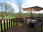 Enclosed veranda with fabulous countryside views