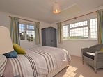 Light and airy double room which boast sea views