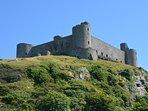Harlech Castle nearby