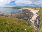The sandy beach at Thurlestone is only 0.5 miles away